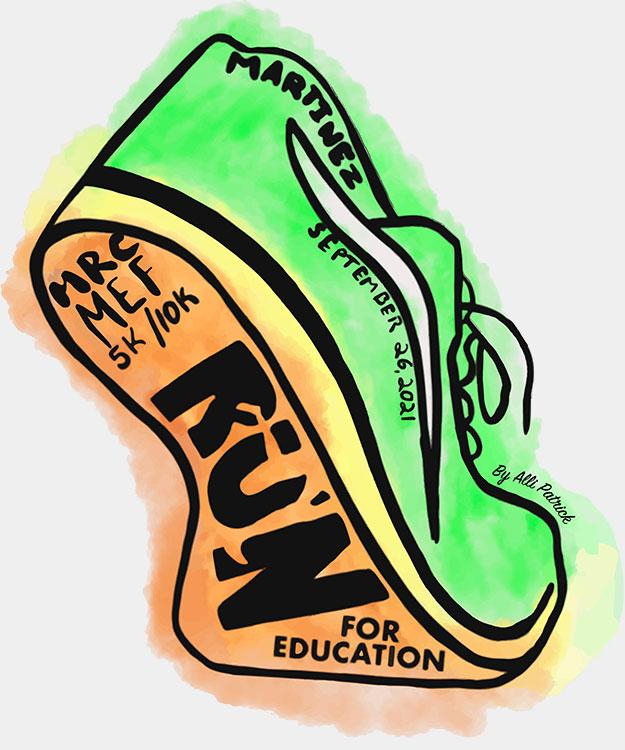 2021 MEF Run for Education logo